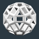 ZomeTool's connector balls are small rhombicosidodecahedrons