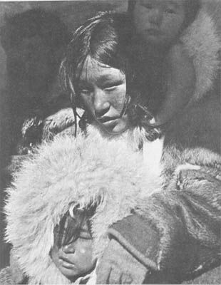 Inuit Woman with Children