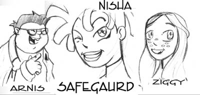 The Safeguard - More Cartoony Headshots