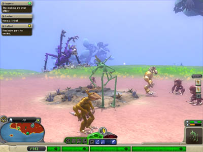 Spore's Creature Stage Epic Creature in the Background (Stay away from those)