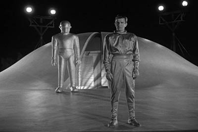 Klaatu at Gort 1951