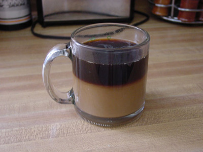 Liquid-Liquid barrier in Coffee with Creamer