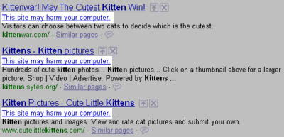 Kitten Sites have Malware