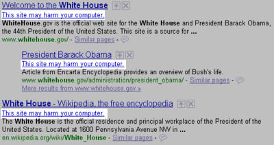 WhiteHouse.gov has Malware