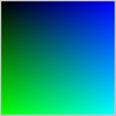 blue and green color pallet