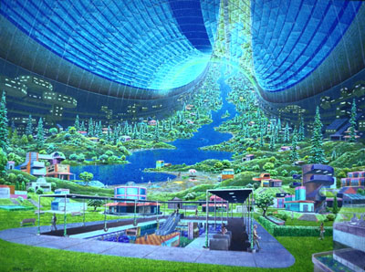 Space Colony design for NASA Image by Donald Davis