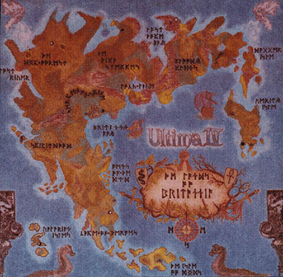 Ultima IV Map of Britannia