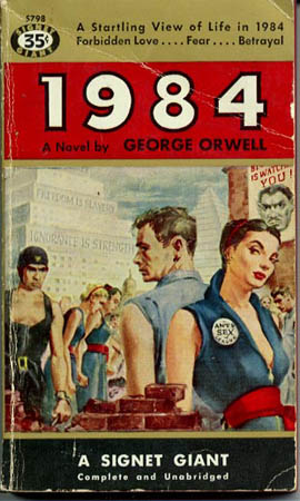 an analysis of the totalitarian society in 1984 by george orwell One of the most intense and powerful warnings against a totalitarian society unlike a utopian novel, 1984 is a distopian, or negative utopian novel george orwell lived in spain, germany, and the soviet union-had experience seeing complete political control.