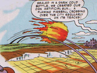 Krypton City's Sun on Tracks 1958
