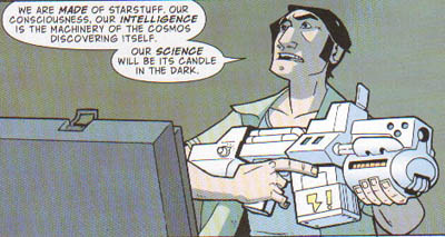 Carl Sagan in Atomic Robo