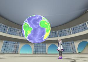 NOAA Science on a Sphere Display