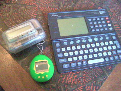 Pager, Tamagotchi and Psion Organiser
