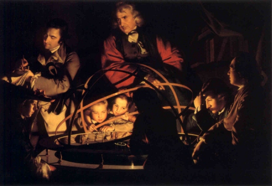 Joseph Wright's A Philosopher Lecturing on the Orrery