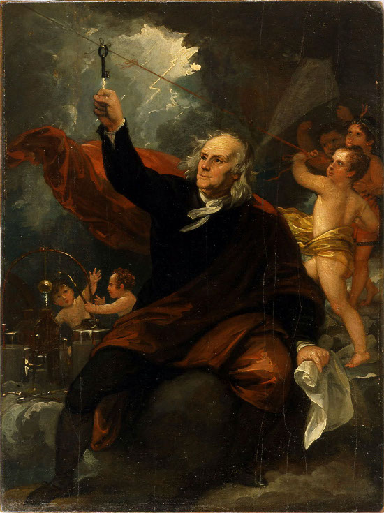 Benjamin West's Benjamin Franklin Drawing Electricity from the Sky
