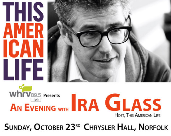 Evening With Ira Glass Advertisement