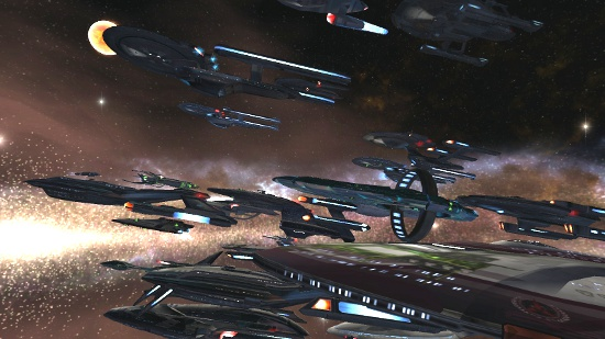 Player Ships Hanging Out at DS9 Look Like a Formidable Fleet