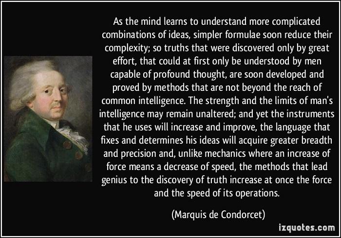 Marquis de Condorcet Quote