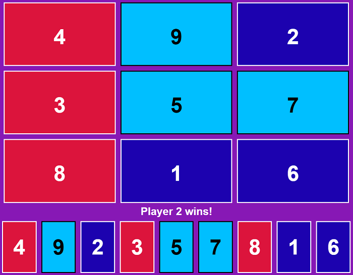 Magic Square Tic Tac Toe